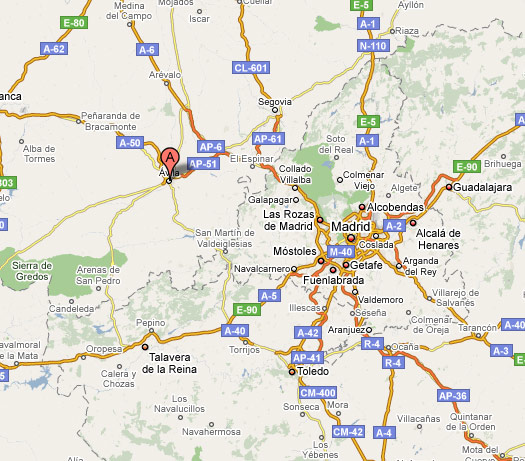 Where is Avila? The geographical location of Avila in Spain